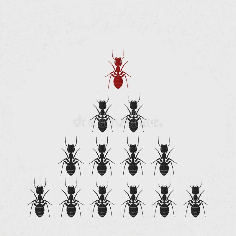 Líder de la hormiga stock de ilustración