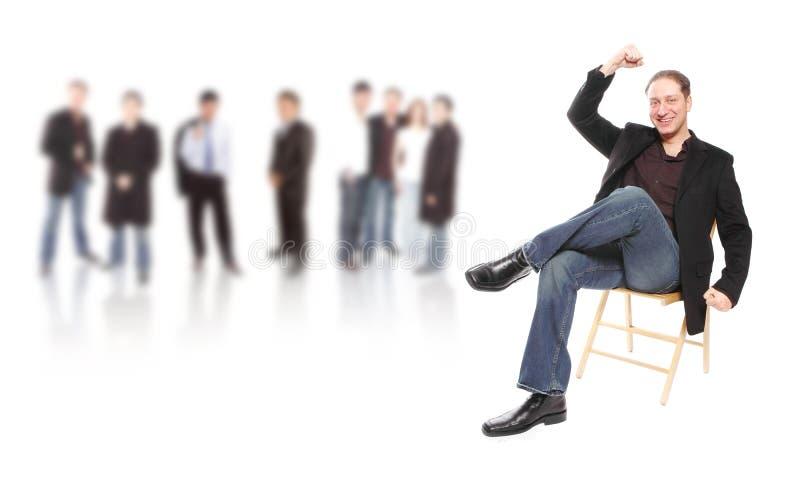 Líder de negócio foto de stock