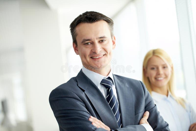 Líder de negócio imagem de stock