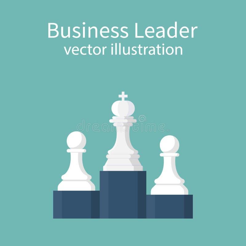 Líder de negócio Concept ilustração do vetor