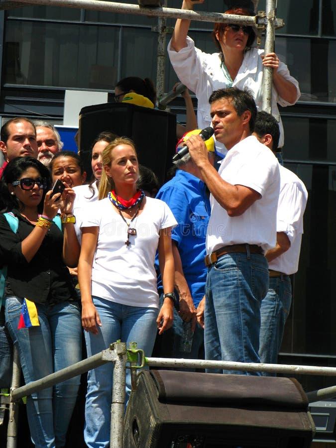 Líder de oposición venezolano Leopoldo Lopez imagen de archivo libre de regalías