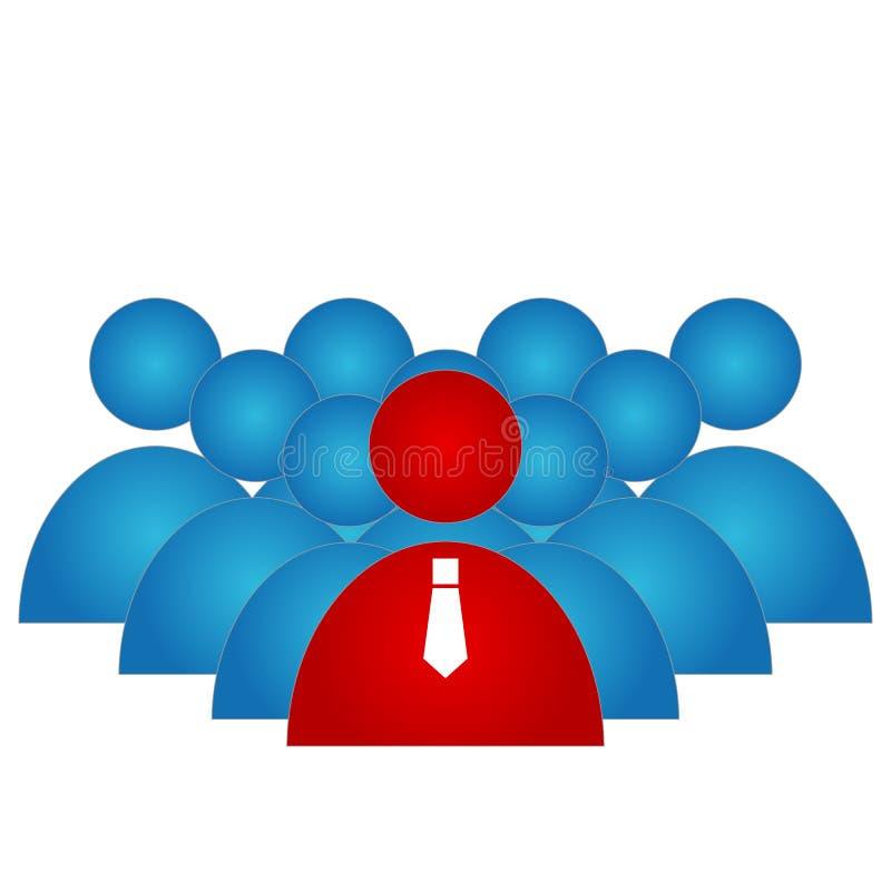 Líder del grupo stock de ilustración