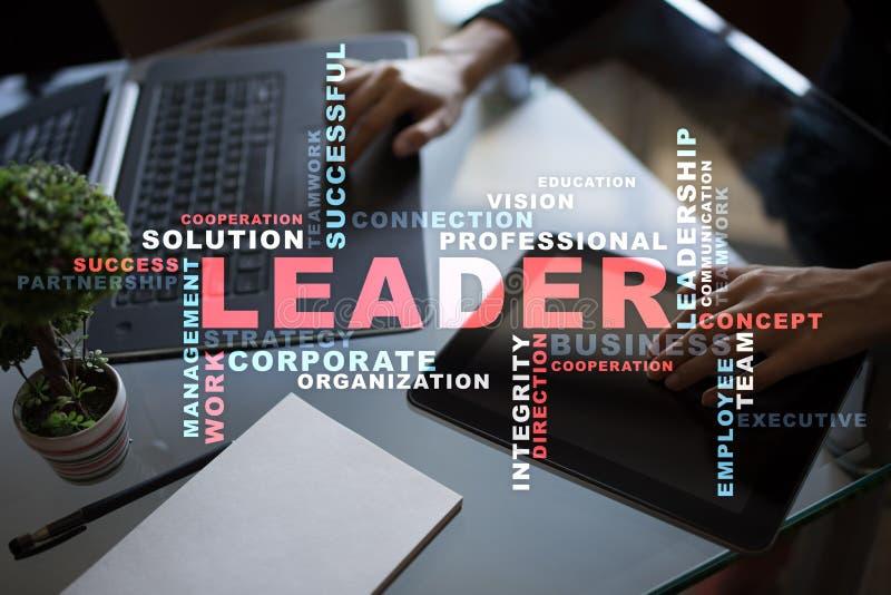 Líder Dirección Teambuilding Concepto del asunto Nube de las palabras fotografía de archivo libre de regalías