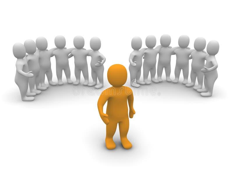 Líder e dois grupos ilustração do vetor
