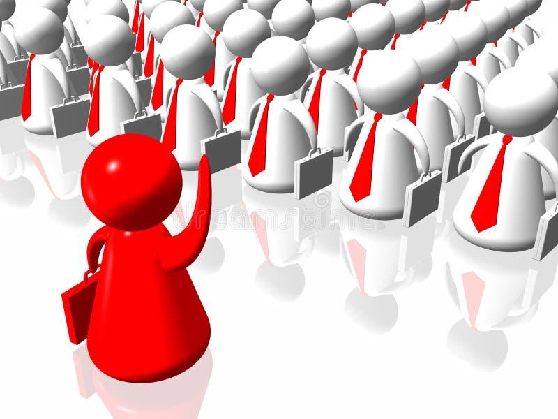 Líder e equipe vermelhos do negócio ilustração do vetor