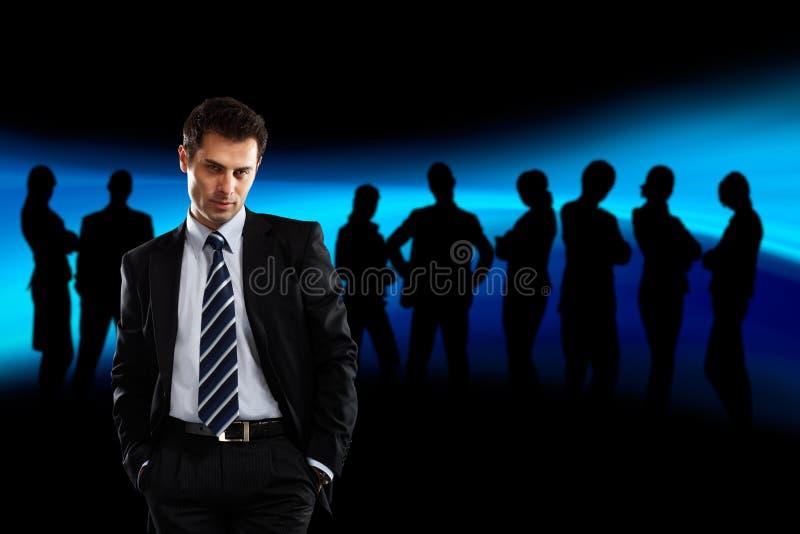 Líder e sua equipe foto de stock