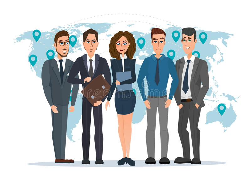 Líder e uma equipe Grupo de homens e de políticos das mulheres ilustração royalty free