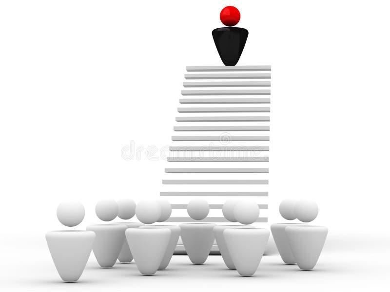 Líder em uma tribuna ilustração stock