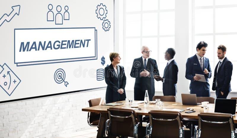 Líder empresarial Coordination Graphic Concept de la gestión imagen de archivo