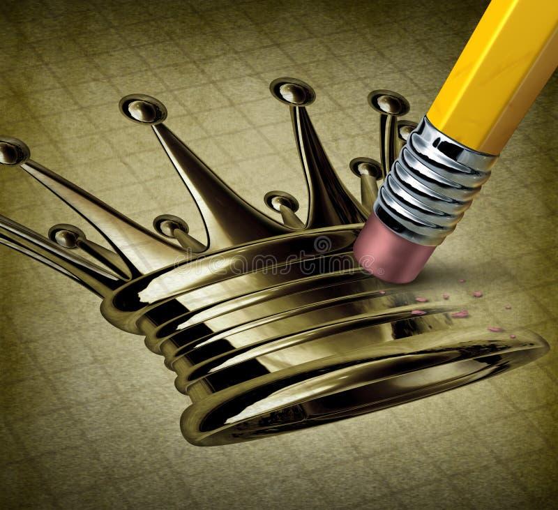 Líder falhado ilustração royalty free