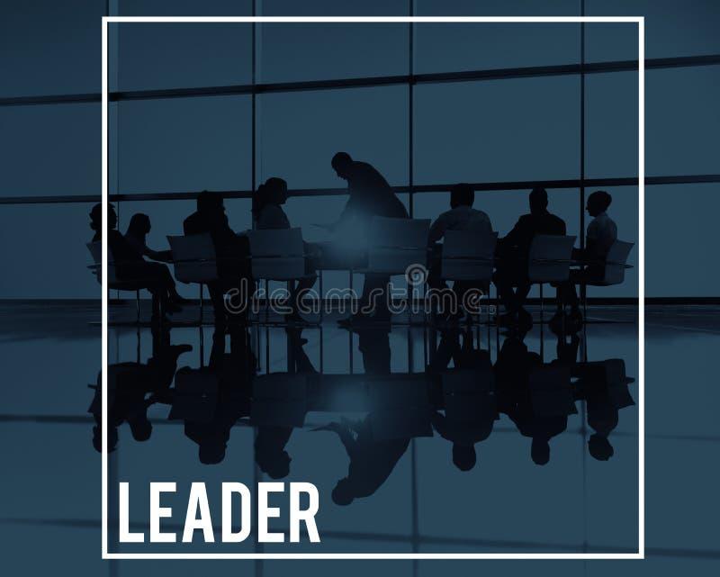 Líder grande Leadership Concept de la reunión de negocios fotos de archivo libres de regalías