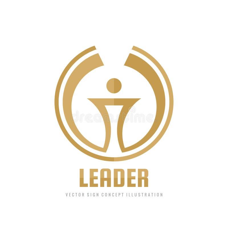 Líder - ilustração do conceito do molde do logotipo do negócio do vetor Sinal criativo da tocha abstrata Símbolo do copo do vence ilustração royalty free