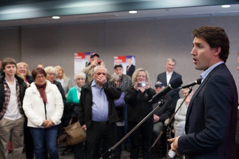Líder liberal canadense Justin Trudeau foto de stock