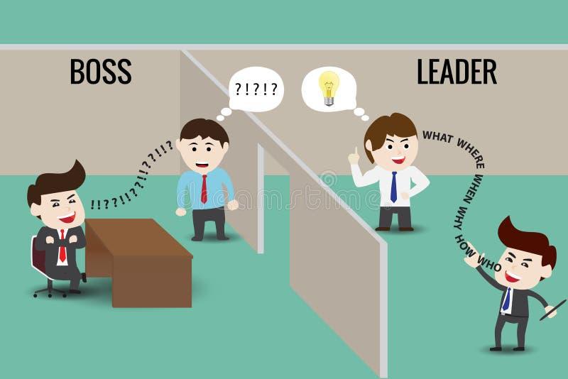 Líder o Boss, plantilla ilustración del vector