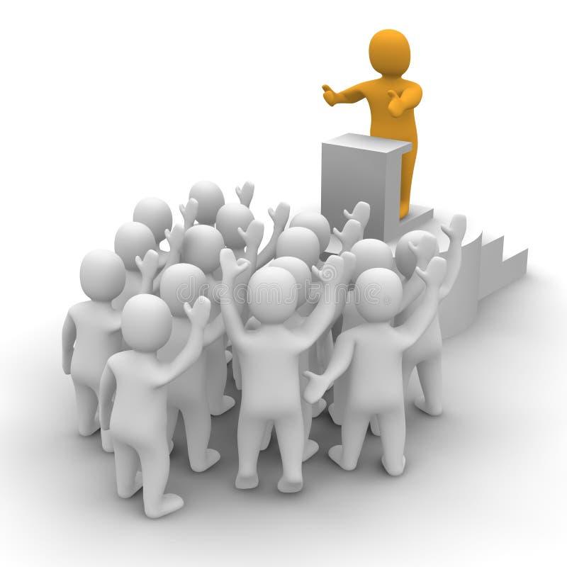 Líder que fala à audiência ilustração royalty free