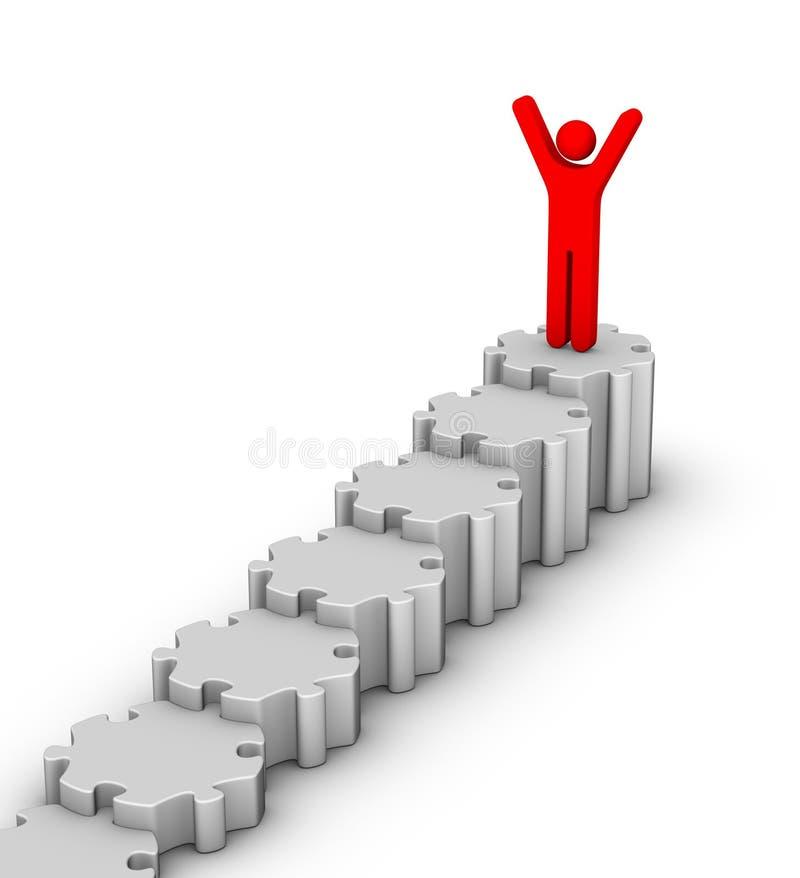 Líder sobre a escadaria ilustração stock