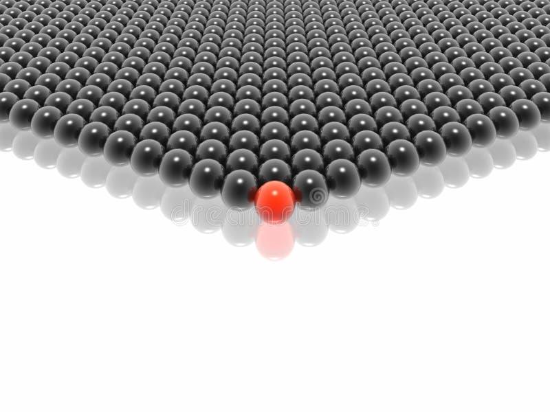 Líder vermelho do grupo das esferas ilustração royalty free