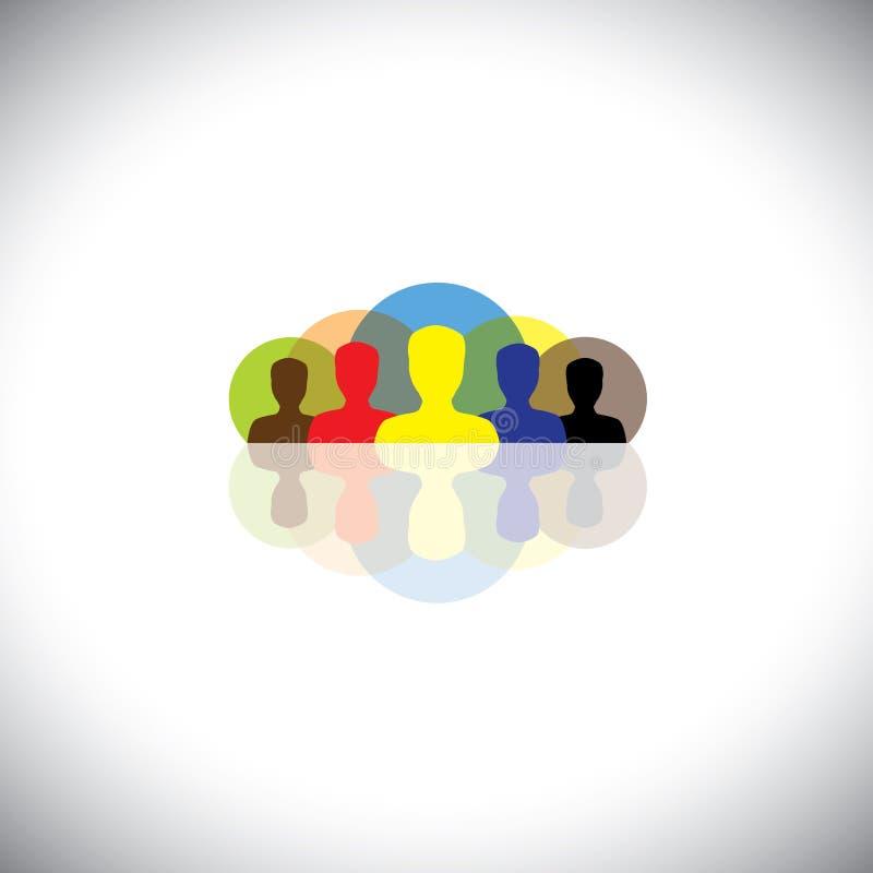 Líder y dirección en corporates y compañías - vector el concepto ilustración del vector
