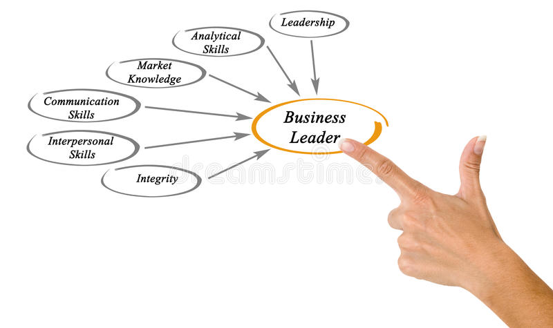 Líderes de negócio imagem de stock