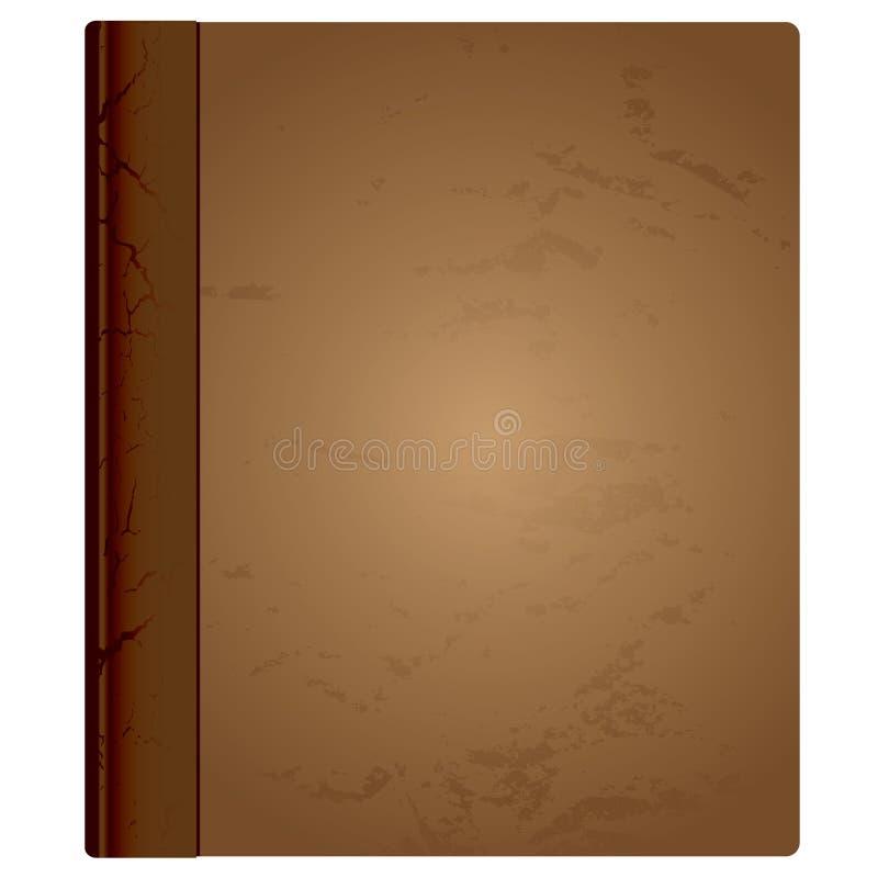 Límite de cuero del libro ilustración del vector