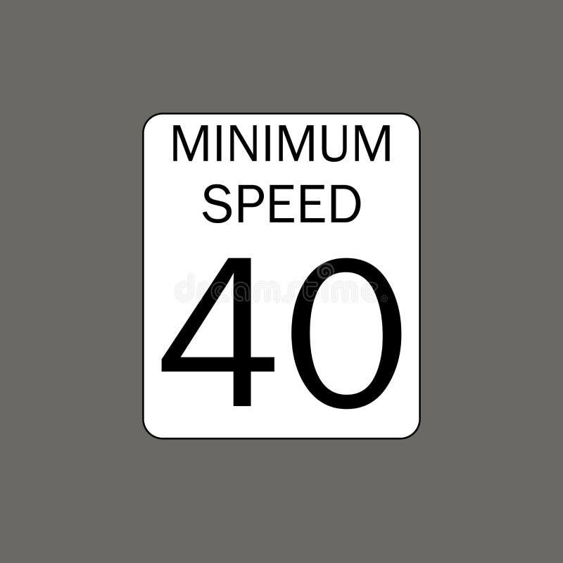 Límite de la velocidad mínima stock de ilustración
