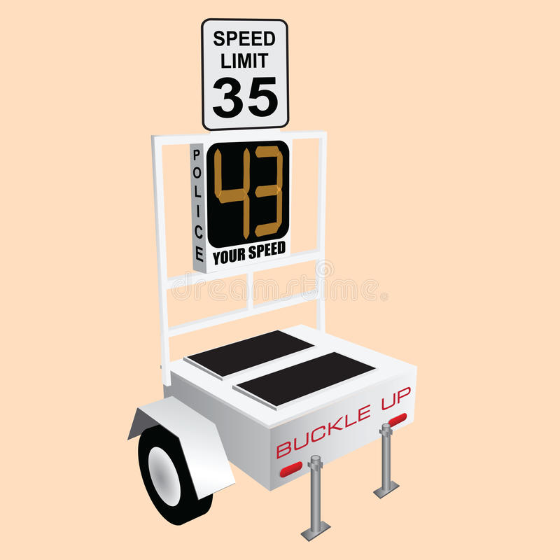 Límite de velocidad ilustración del vector