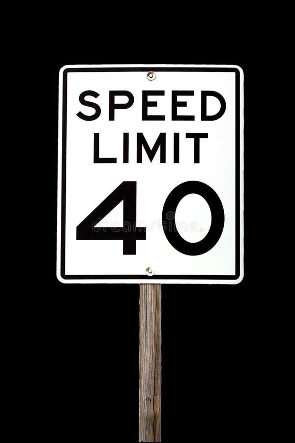 Límite de velocidad 40 imagenes de archivo