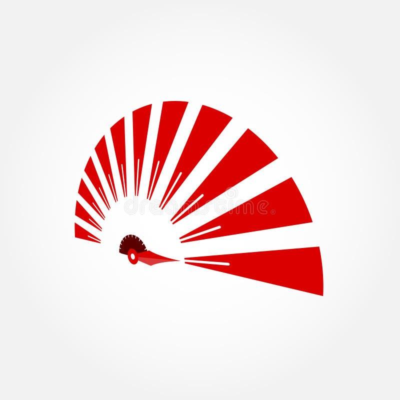 Límite de velocidad Logo Design stock de ilustración