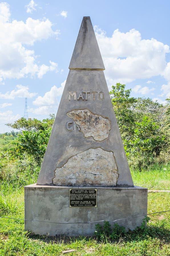Límite divisional de los estados de Amazonas y de Mato Grosso fotos de archivo