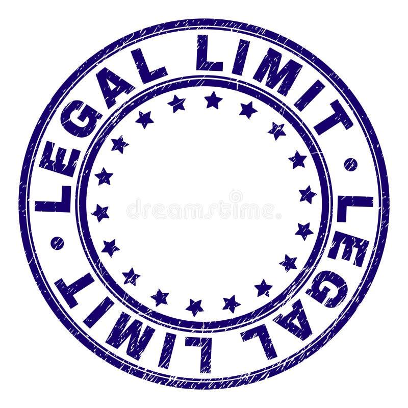 LÍMITE LEGAL texturizado rasguñado alrededor del sello del sello stock de ilustración