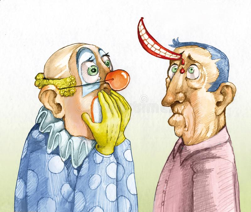 Límites del drenaje chistoso del humor libre illustration