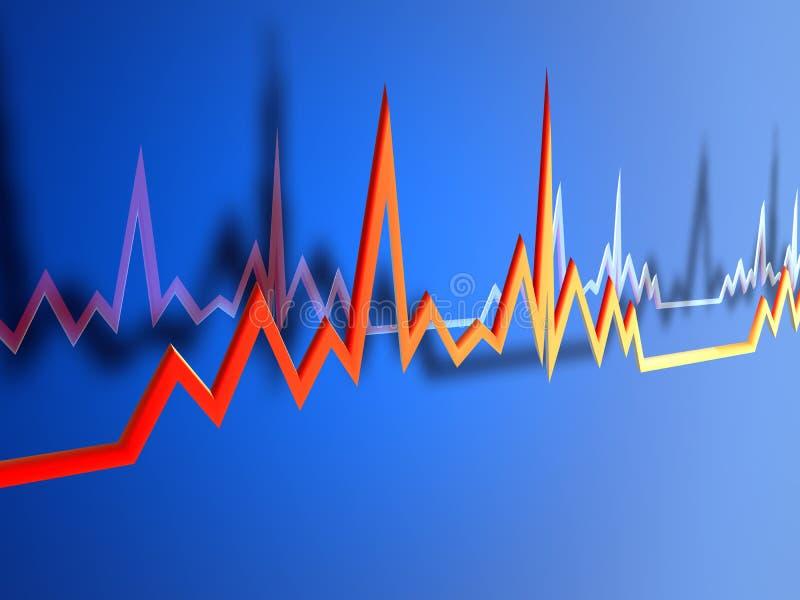 Línea 2 de EKG ilustración del vector
