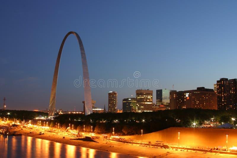 Línea 3196 del cielo de St. Louis foto de archivo libre de regalías