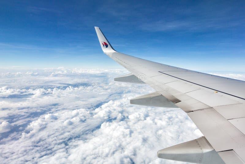 Línea aérea Boeing 747/777 de Malasia foto de archivo