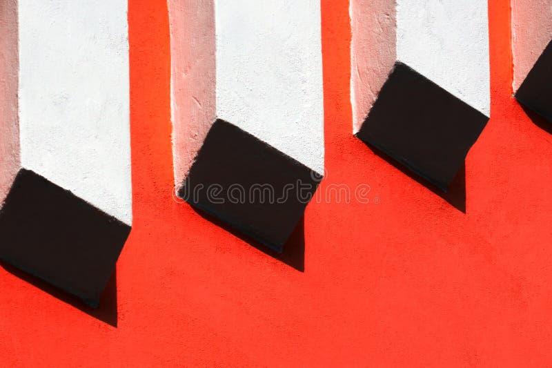 Línea abstracta alivio en la pared imagenes de archivo