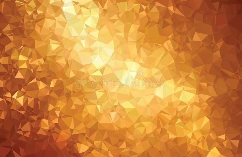 Línea abstracta del oro del modelo de la geometría del triángulo del fondo libre illustration