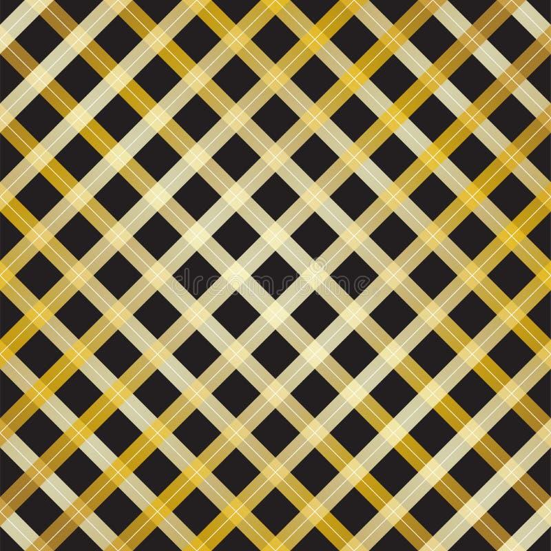 Línea abstracta diseño de la cruz del oro en fondo negro stock de ilustración