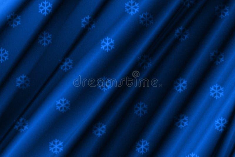 Línea abstracta fondo del azul del copo de nieve stock de ilustración