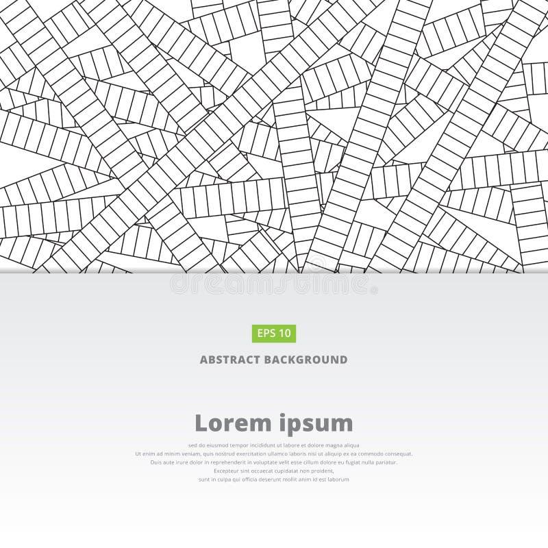 Línea abstracta fondo y textura, pistas de ferrocarril modelo, V ilustración del vector