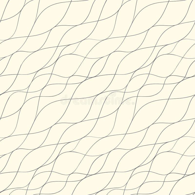 Línea abstracta modelo inconsútil stock de ilustración