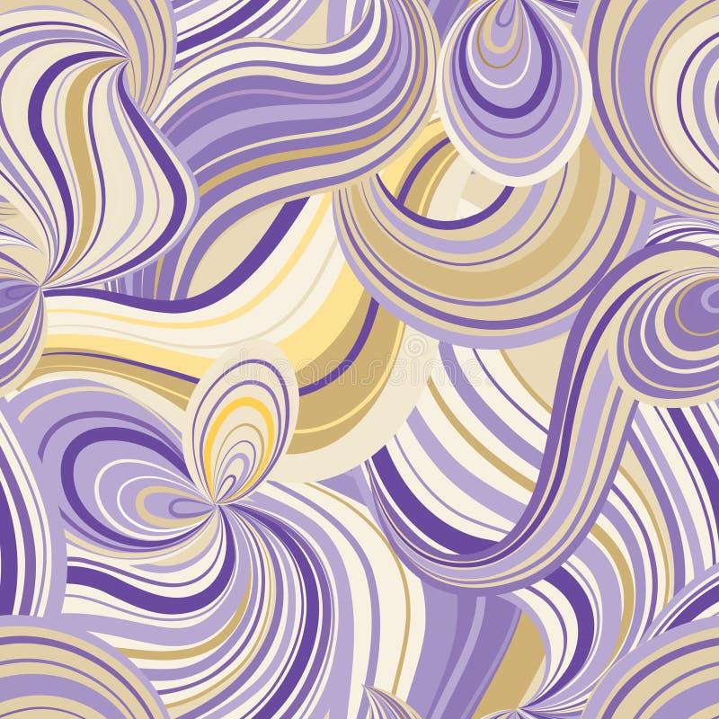 Línea abstracta modelo inconsútil de la onda Fondo ondulado del remolino de la rejilla stock de ilustración
