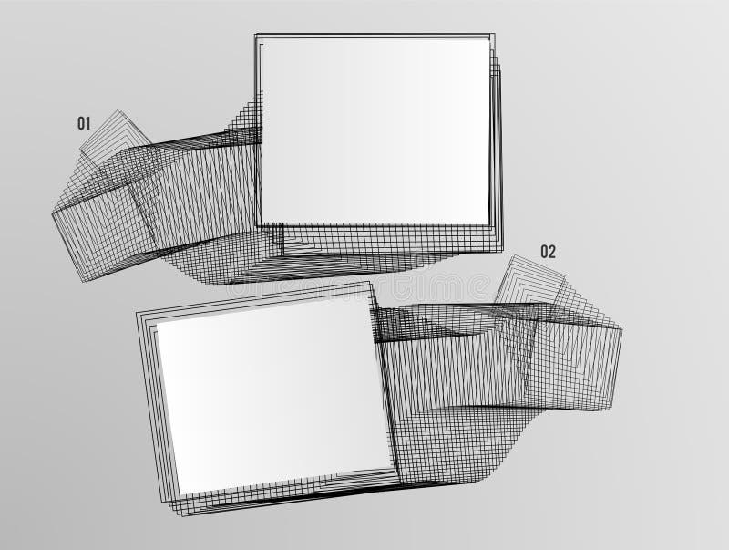 Línea abstracta monitor del efecto del fondo 3d libre illustration