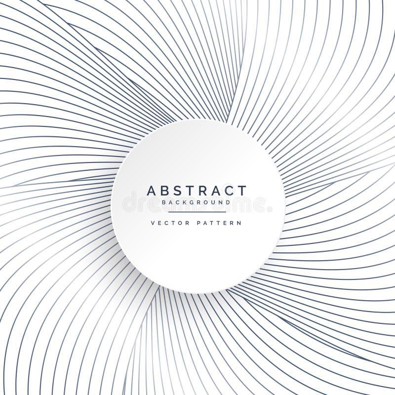 Línea abstracta ondas que se mueven de centro ilustración del vector