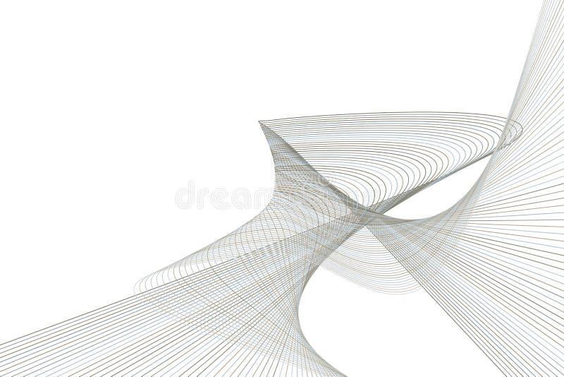 Línea abstracta y modelo geométrico de la curva, colorido y artístico para el diseño gráfico Contexto, fondo, detalles y superfic ilustración del vector