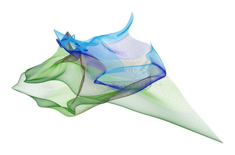 Línea ahumada abstracta fondo de los ejemplos del arte Diseño, digital, plantilla y cubierta stock de ilustración