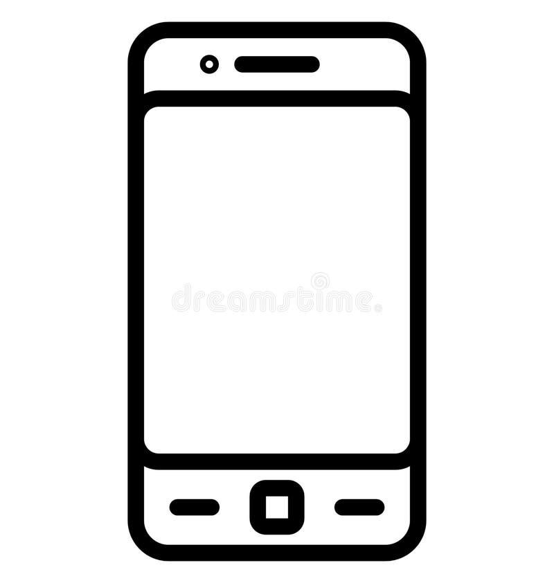 Línea aislada móvil icono del vector que puede ser modificada o ser corregida fácilmente ilustración del vector