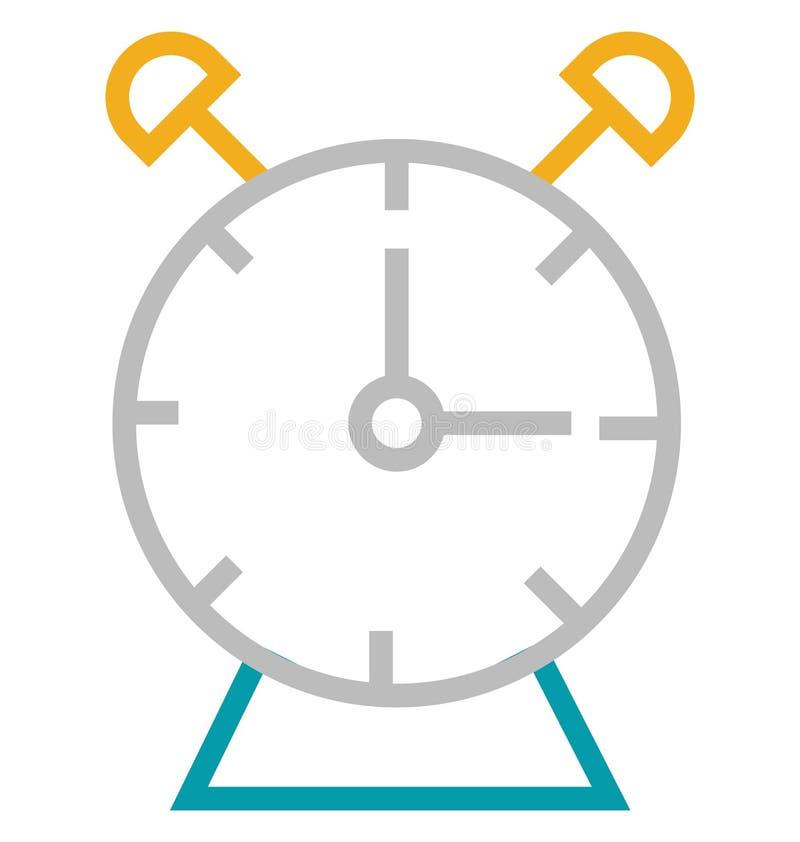 Línea aislada reloj con el icono del vector del color Editable libre illustration