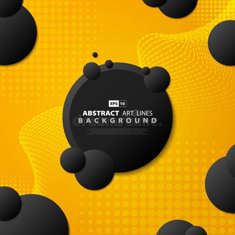 Línea amarilla cubierta de la tecnología de la pendiente del extracto del diseño moderno Vector eps10 del ejemplo ilustración del vector