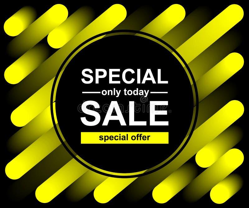 Línea amarilla fondo de la mezcla Modelo de moda abstracto para el diseño del cartel Venta especial Solamente hoy ofrecer libre illustration