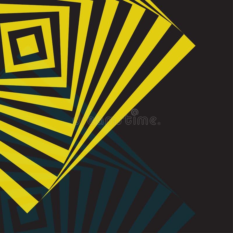Línea amarilla fondo de la torsión del extracto stock de ilustración